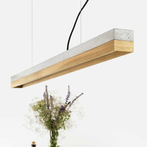 Oak & Concrete Pendant Light 122 [C1]