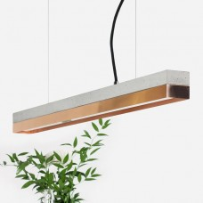 Copper & Concrete Pendant Light 92 [C2]