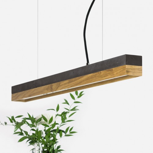 Oak & Concrete Pendant Light 92 [C2]