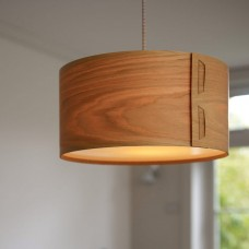 Drum Pendant Oak Lamp Shade