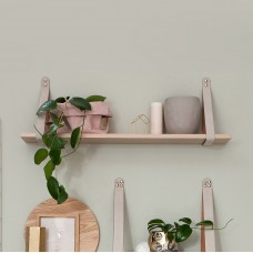 Nude Leather Strap Shelf