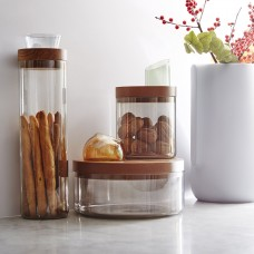 Oasi - Glass Containers with Wooden Lid