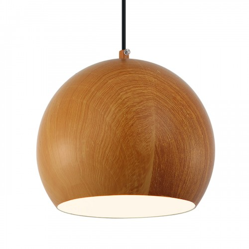 Wooden Spherical Pendant Light- small
