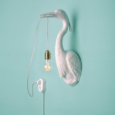 Bird Wall Lamp - White