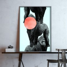 Drei Gorillas Print