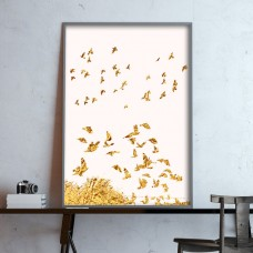 Golden Birds Print