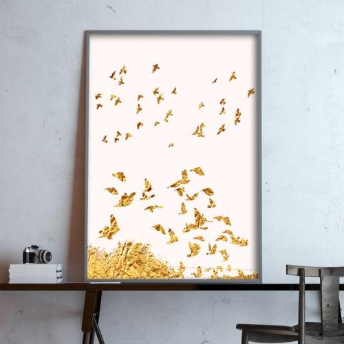 Golden Birds Print