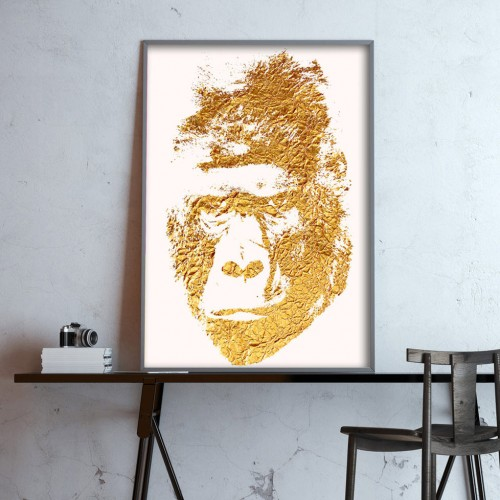 Golden Gorilla Print