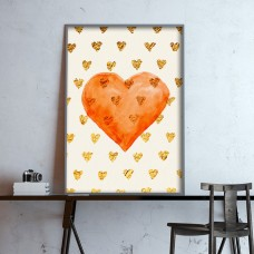 Golden Heart Print