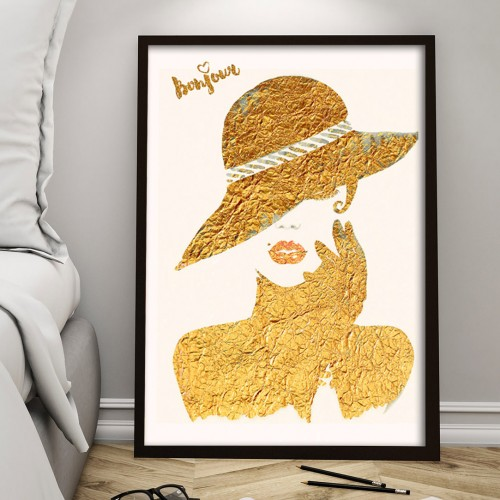 Golden Lady Print