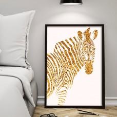Golden Zebra Print