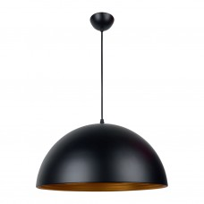 Black Dome Pendant Lamp - Large
