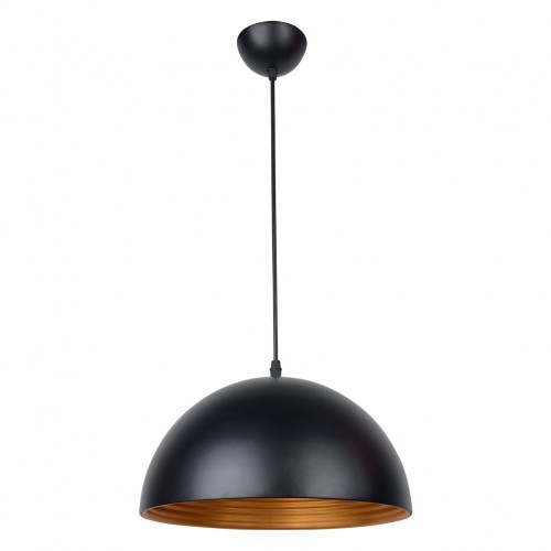Black Dome Pendant Lamp - Small