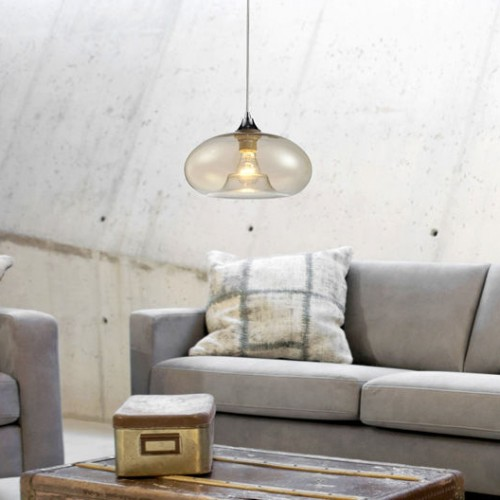 Bolla Oval Glass Pendant lamp