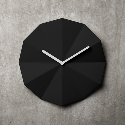Delta Black Wall Clock