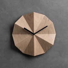 Delta Oak Wall Clock