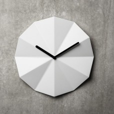 Delta White Wall Clock