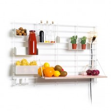 Grid Wall Shelving - Composition 01
