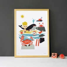 A3 Beach Print and Frame