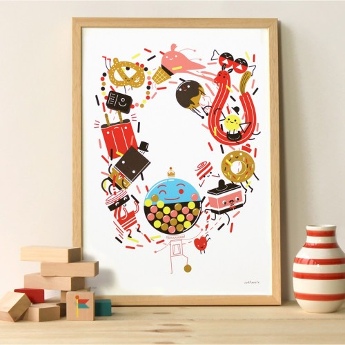 A3 Candy Print and Frame