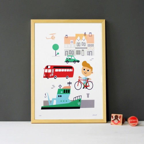 A3 City Print and Frame