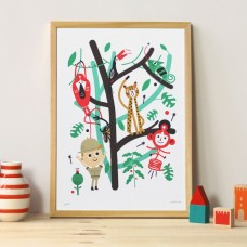 A3 Jungle Print and Frame