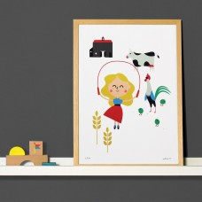 A3 Farm Print and Frame