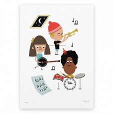 A3 Orchestra Print and Frame