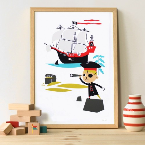 A3 Pirate Print and Frame