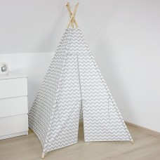 Grey and White Chevron Teepee
