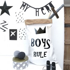 Boys Rule - Paper Storage Bag