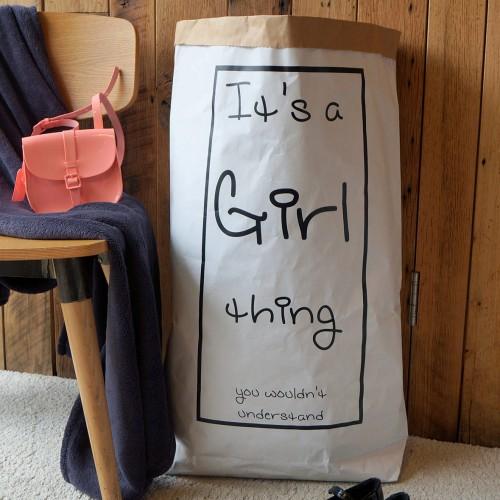 Girl Thing - Paper Storage Bag