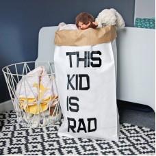 This Kid Is Rad - Paper Storage Bag
