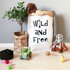 Wild and Free - Paper Storage Bag