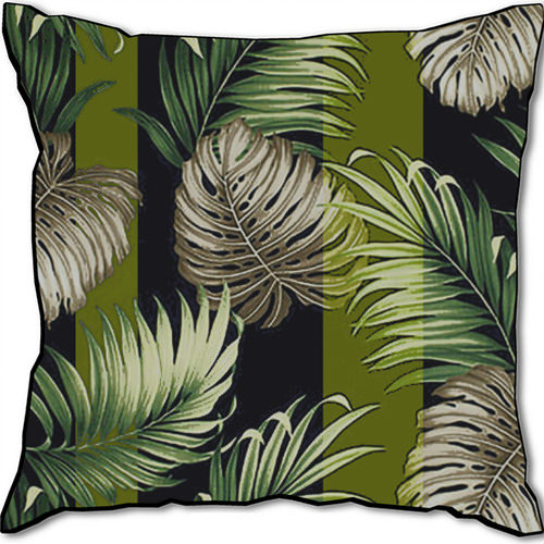 Amazonia Striped Velvet Cushion