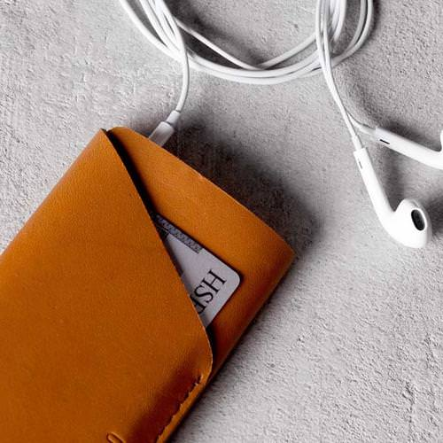 Leather Wallet Sleeve for iPhone 6(s)