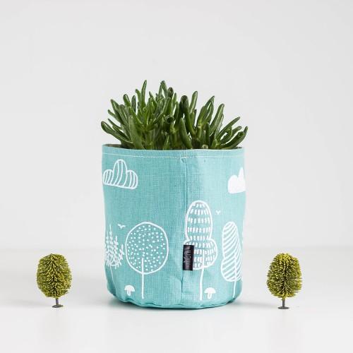 Mint linen basket - Camping