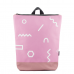 Pink Backpack - Geometric Garden