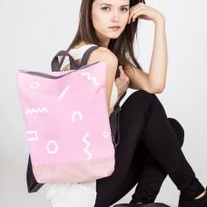 Pink Backpack - Geometric Garden