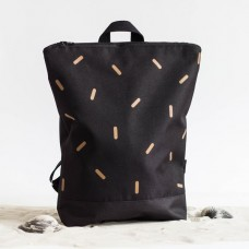 Backpack - Black and Bronze Lines