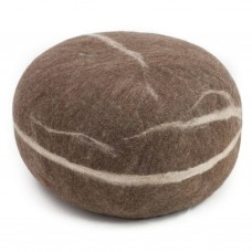 Alwin Brown Felt Pouffe