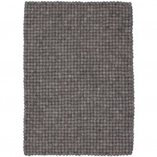 Carl Grey Felt Rectangular Rug