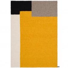 Geometric Mustard Felt Rectangular Rug