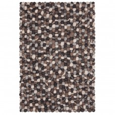 Hardy Grey Felt Rectangular Rug