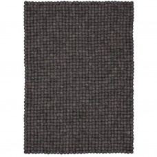 Hugo Dark Grey Felt Rectangular Rug