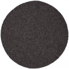 Hugo Dark Grey Felt Round Rug