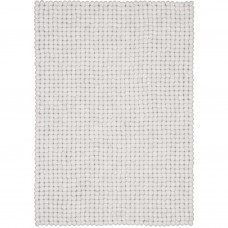Linea White Felt Rectangular Rug