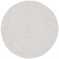 Linea White Felt Round Rug