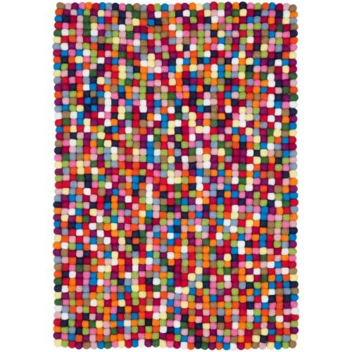 Lotte Multicolour Felt Rectangular Rug