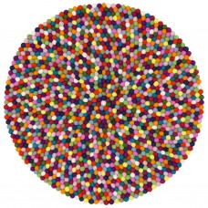 Lotte Multicolour Felt Round Rug